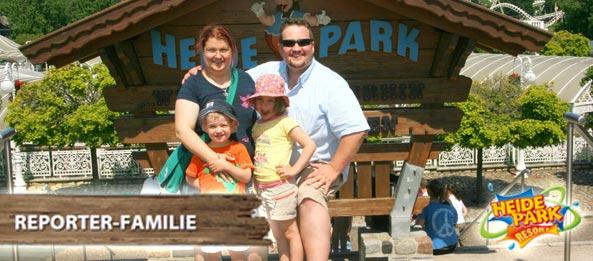 Gewonnen: Die Heide Park Resort - Reporter Familie