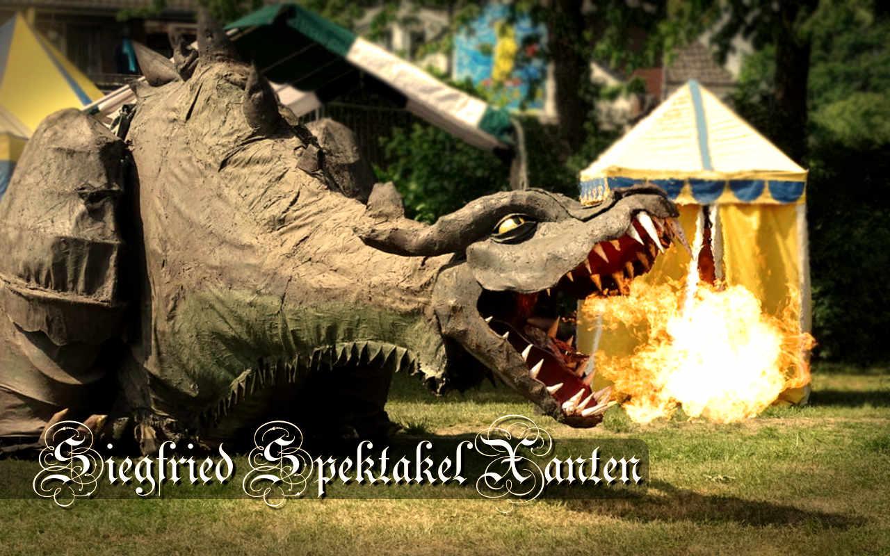 Siegfried-Spektakel in Xanten