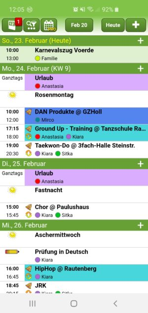 Top 6 Familienkalender App im Test: Famanice - Familienkalender - 1