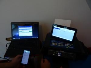 Mit Tablet und Smartphone